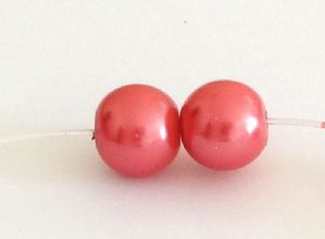 400 Glass pearl beads 4mm Blush